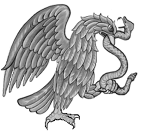Aguila tragandose a la serpiente
